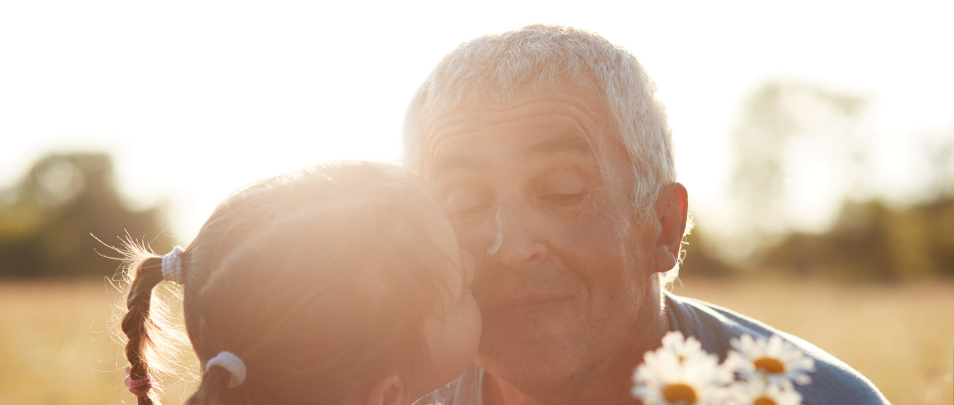 Cataracts grandparent with child